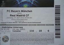 TICKET UEFA CL 2011/12 FC Bayern München - Real Madrid