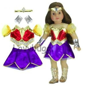 """SALE Wonder Woman Costume for American Girl 18"""" or Baby Doll Clothes LOVVBUGG 🐞"""