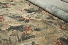 Scampoli di Tessuto in garza di lino con stampa floreale esotica
