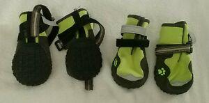 Set of 4 Tough Dog Boots Protective Nonslip Safe Reflective - Large