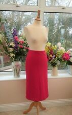 Gorgeous LAURA ASHLEY Pink & red dogstooth tweed Wool blend skirt size 12
