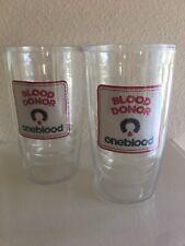 Set Of 2 OneBlood Blood Donor Tervis Tumbler 16 oz. EUC
