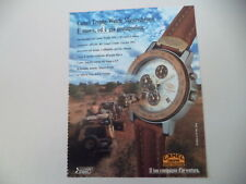 advertising Pubblicità 1992 CAMEL TROPHY WATCH MASTERCHRONO