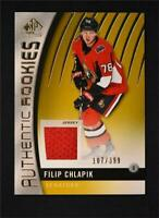 2017-18 Upper Deck SP Game Used Gold Jersey Rookies #129 Filip Chlapik /399