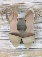 ALDO Cream Suede Fringed Strappy High Heel Sandal Shoe Sexy Pumps. Size 8