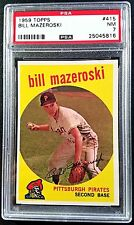 1959 Topps #415 Bill Mazeroski PSA 7 NM Near Mint Pirates MLB Baseball Card HOF