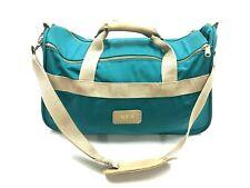 Vintage 80's Boyt Green Duffel Travel Weekender Tote Carry On Bag