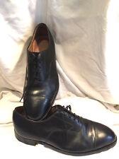 JOHNSTON & MURPHY UK11 Superb Designer Oxford Style Wide Black Tie up Shoes