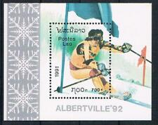 O/ 24;  Laos;  Olympiade 1992, Block postfr.**