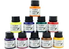 More details for liquidraw calligraphy ink set of 10 for dip pens holder writing 35ml bottle