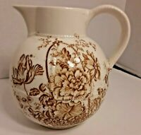 Vintage Crown Devon Pitcher Fieldings Staffordshire England FREE SHIPPING