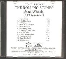"Rolling STONES ""Steel Wheels"" German acetati PROMO CD RAR"
