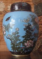 Boîte à thé Japonaise Cuivre Cloisonné Meiji XIXème
