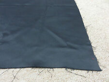Jet black soft lined blackout material remnant crafts fabric piece 105x120cm