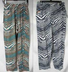 Miami Dolphins or Denver Broncos Mens Size S to 2XL Zebra Print Pants S1 113 114