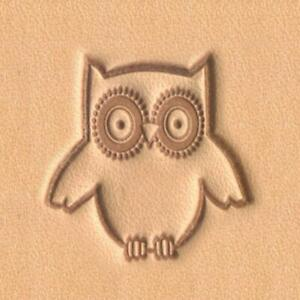 Ivan 2D Leather Stamp - Owl (8678-00)