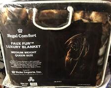 "Regal Comfort ""Chain Reaper� Faux Fur 79""x 96"" Medium Weight Queen Size"