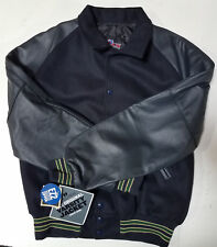 Holloway Varsity Lettermans Jacket, Navy/Forest/Vegas, Medium (Retail $180)
