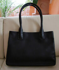 Audi Handtasche Damen Tasche schwarz genarbt Rindsnappaleder Leder Damenhandtasc