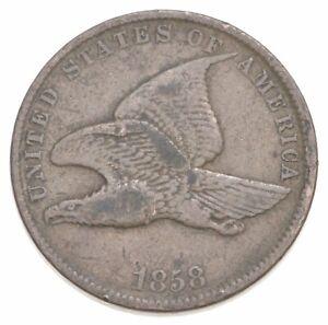 CRISP - 1858 - Flying Eagle United States Cent - RARE *017