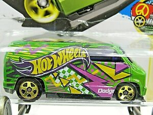HOT WHEELS VHTF 2016 ART CARS SERIES CUSTOM 77 DODGE VAN KMART COLOR