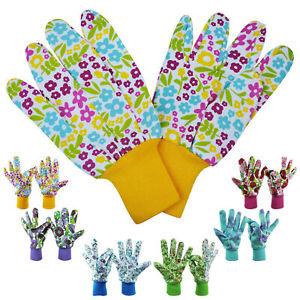 3 Pairs Ladies Gardening Glove Women Garden Glove Floral Gardening Gloves