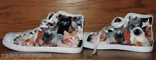 SPEADSHOES SIZE 5 CANVAS YOUTH HIGH TOP CAT KITTENS ATHLETIC SHOES SNEAKERS