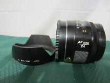 Minolta Maxxuum AF Lens 24mm F/2.8 w/ Tulip Hood, Front and Rear Caps SONY ALPHA
