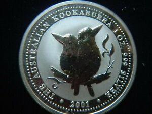 2001 Australia KOOKABURRA $1 Dollar Coin SILVER 1oz .999 Perth Minted Toned Ag *