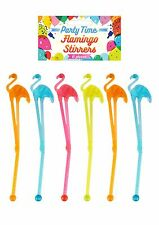 Party Time Surtidos Flamingo agitadores-Paquete de 6
