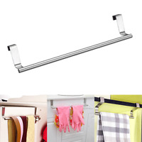Over Door Towel Rack Bar Hanging Holder Bathroom Kitchen Cabinet Shelf Rack JB V
