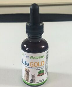 Pet Wellbeing - Life Gold For Dogs and cats 12.2024 Expiration 2 Oz
