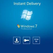Windows 7 Professional 64 Bit Sp1 Full Version & License COA Product Key Pro DVD