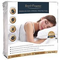 BED BUG DUSTMITE WATERPROOF BOX SPRING MATTRESS ENCASEMENT COVER HYPOALLERGENIC