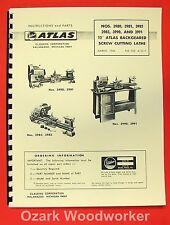 """ATLAS/CRAFTSMAN 12"""" Metal Lathe 3980,3981,3982,3983,3990,3991 Parts Manual 0044"""