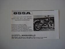 advertising Pubblicità 1977 MOTO OSSA TRIAL 250/350
