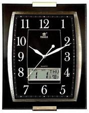 Office Analog Digital Wall Clock Date Display-0506 BLACK