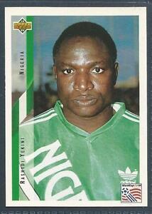 UPPER DECK WORLD CUP USA 1994- #164-NIGERIA-RASHIDI YEKINI
