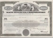 MACK FINANCIAL CORPORATION.....DEBENTURE DUE 1991