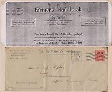 (SF28)1932 Au Env OHMS 2d GVOS back Farmers hand book