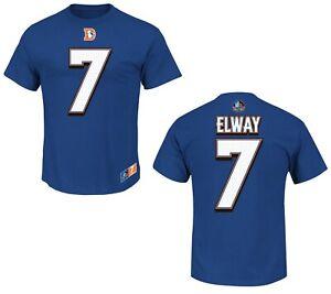 NFL T-Shirt Denver Broncos John Elway Blue Hof Hall Fame Jersey Football