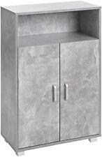 ts-ideen Schrank Kommode Sideboard Küchenbuffet Standregal MDF Grau Betonoptik