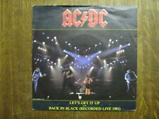 AC/DC 45 TOURS HOLLANDE LET'S GET IT UP+