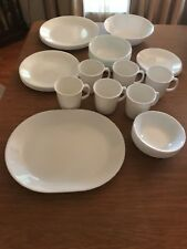 Corelle Winter Frost White  38 Piece Dinnerware Set Service For 6