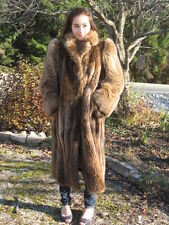 #S56 cutter craft MUST HAVE BEAVER  FUR COAT LIGHT BROWN  FIT MEDIUM 10/12