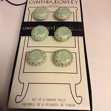 Cynthia Rowley Dresser Distressed Drawer Cabinet Pulls Knobs set of 6 NIB