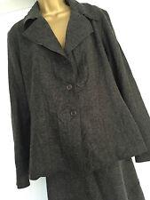 *NWT* M&S PER UNA Ladies 18 Grey crinkled effect Skirt suit RRP £120.00