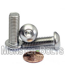10mm x 1.50 x 30mm - Qty 10 - A2 Stainless Steel BUTTON HEAD Screws M10-1.5 x 30