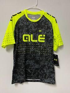 Alé Cycling Short Sleeve Enduro Jersey - Black/Yellow - Men's