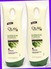 2 Olay Botanical Fusion RESTORE Rosemary and Jasmine Body Wash 8.4 fl oz